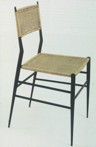 Gio Ponti, La Superleggera, Cassina 1957