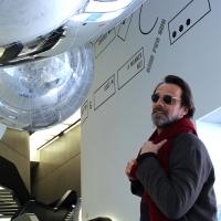 """L'attore Alessandro Preziosi al MAXXI per la mostra """"Gravity. Immaginare l'Universo dopo Einstein"""""""
