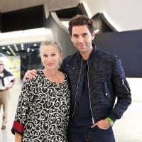 La Presidente della Fondazione MAXXI Giovanna Melandri con MIKA