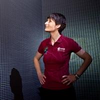 """Samantha Cristoforetti in visita alla mostra """"Gravity. Immaginare l'Universo dopo Einstein"""""""