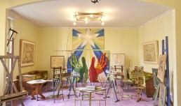 CASA BALLA, Via Oslavia Soggiorno / Living room | Foto M3Studio, Courtesy Fondazione MAXXI © GIACOMO BALLA, by SIAE 2021