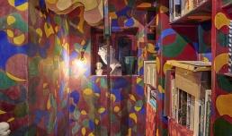 CASA BALLA, Via Oslavia Studiolo rosso dettaglio / Red Small study detail | Foto M3Studio, Courtesy Fondazione MAXXI © GIACOMO BALLA, by SIAE 2021