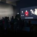 Museo MAXXI, Roma. Mostra César Meneghetti I/O_IO È UN ALTRO. Opera #01, Videocabina, di César Meneghetti, 2015 ©Musacchio & Ianniello