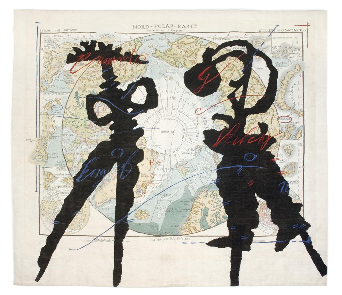 William Kentridge, North Pole Map