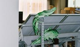Rachele Maistrello, Green Diamond (factory / 1998 - 1999). Courtesy l'artista